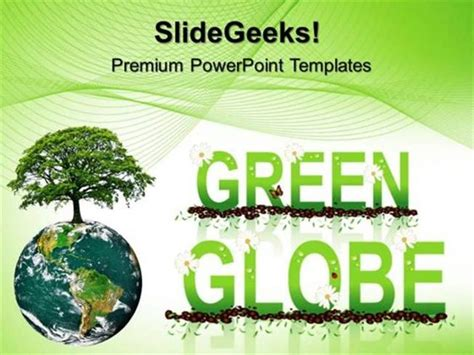 powerpoint template environment green energy green globe environment ppt template 1