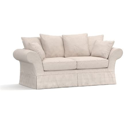 charleston slipcovered sofa pottery barn