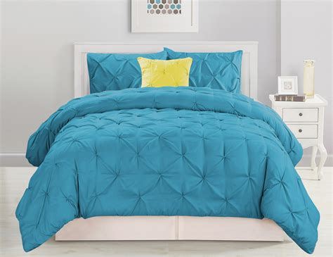 pinched pleat comforter set 4 piece pinched pleat blue comforter set ebay