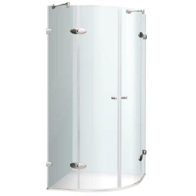 Shower Enclosure Home Depot by Vigo 38 In X 73 In Frameless Neo Shower Enclosure