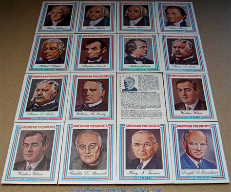 Presidential Trading Card Template by 16 169 1975 United States President Trading Cards Tpnc
