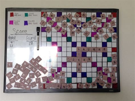 magnetic scrabble board for wall wall scrabble craftiness i ve done