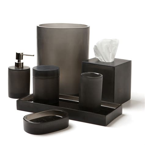 gray bathroom accessories waterworks studio oxygen bath accessories habitat gray