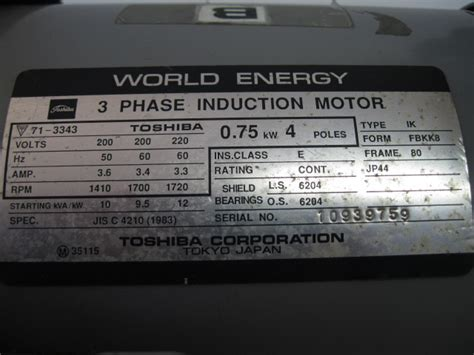 Dijamin Toshiba 3 Phase Induction Motor 3 phase induction motor specifications 28 images 3