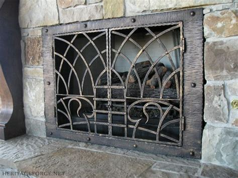 Handmade Fireplace Screens - 28 best images about forged fireplace fixtures on