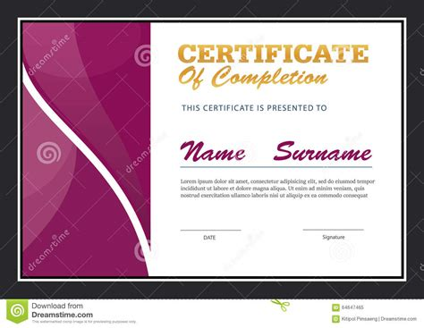 certificate template size certificate template diploma layout stock vector image
