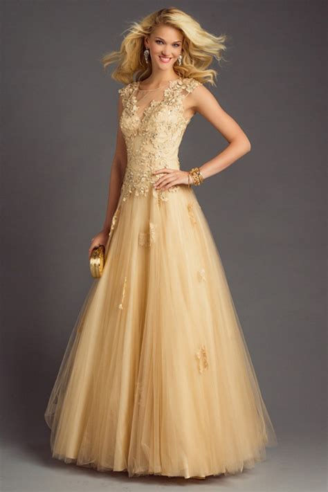 In Gold Dress gold gown dressed up