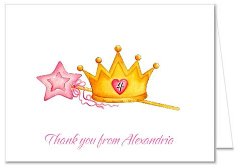 princess crown   note cards personalized