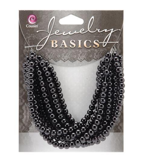jewelry basics jewelry basics 4mm opaque 300 pkg black jo