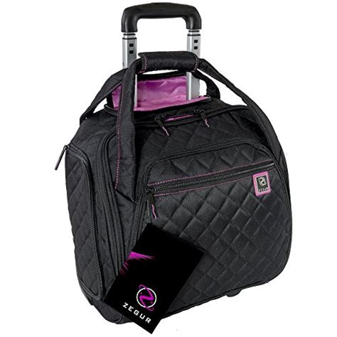 Quilted Carry On Suitcase From Outfitters by Zegur Z 4334 Zegur Quilted Rolling Underseat Carry On