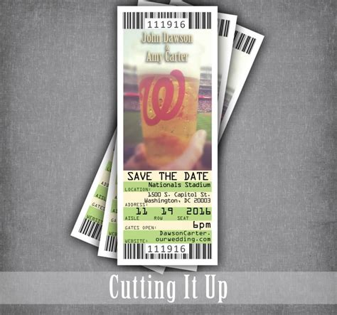 diy baseball cards template save the date ticket baseball wedding ticket save the
