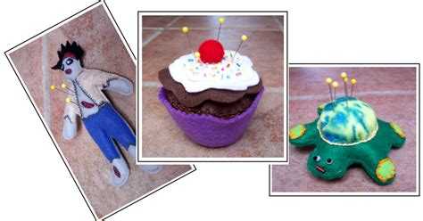 Handmade Pincushions Patterns - threads wednesday sewing zombies cupcakes and