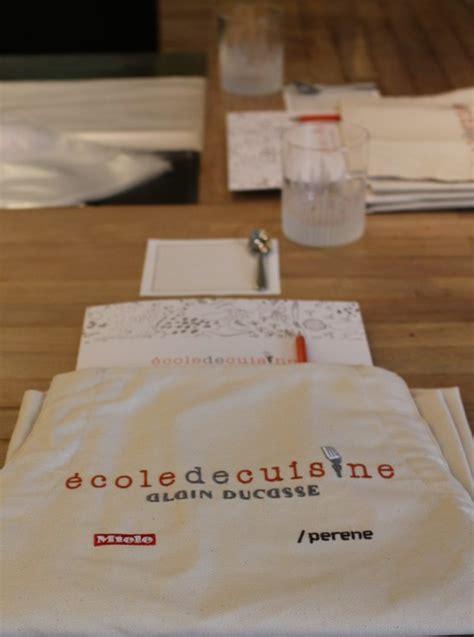 ecole de cuisine alain ducasse cours de cuisine chez