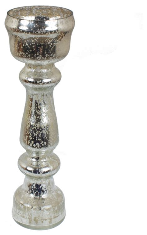 Mercury Glass Flower Vase by 12 5 Quot Mercury Glass Silver Flower Vase Traditional Vases By Gliderite Hardware