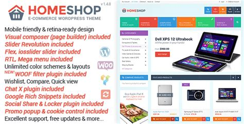wordpress themes free download for online shopping download free home shop v1 4 8 responsive woocommerce