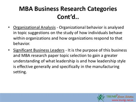 business topic for research paper mba business research paper topics