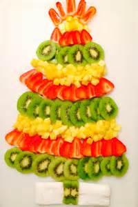 christmas tree fruit tray holiday birthday