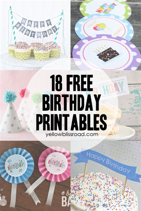 printable birthday banner cake topper 37 birthday printables cakes and a giveaway yellow
