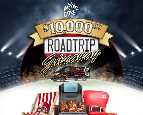 Trip Sweepstakes - curly s 10 000 road trip sweepstakes giveaway gorilla