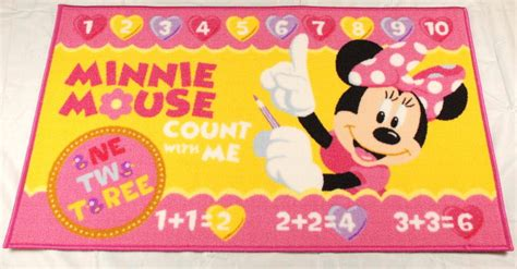 tappeti walt disney tappeto per bambini quot minnie mouse quot disney