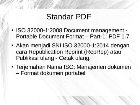 jenis format buku digital disertai perangkat lunak pembacanya pengantar pdf dan aplikasi open source terkait pdf