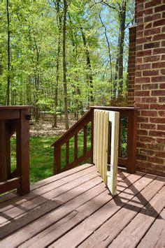 build   deck stair gate crafts diy