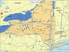 zedulot map of new york state outline