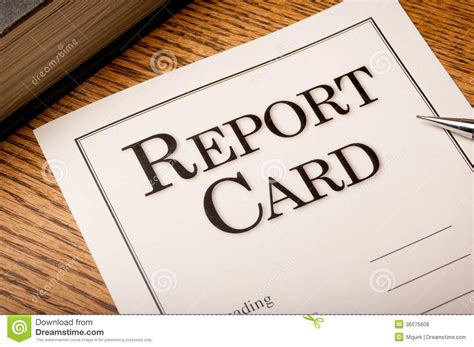 report card book report card royalty free stock photos image 36075608