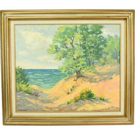 painting indiana vintage painting indiana dunes circa 1960 ruth