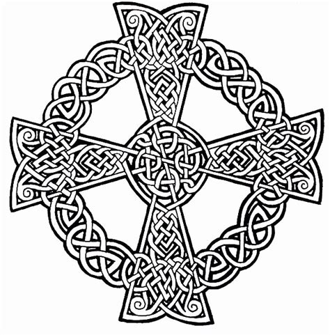 Celtic Cross Coloring Page Coloring Home Celtic Cross Coloring Pages