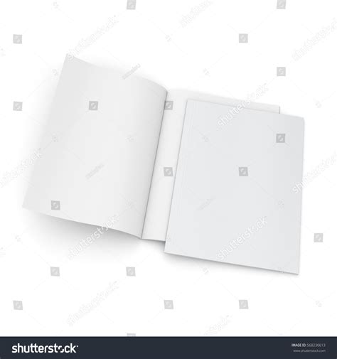 blank mockup templates blank magazine mockup template on white stock illustration