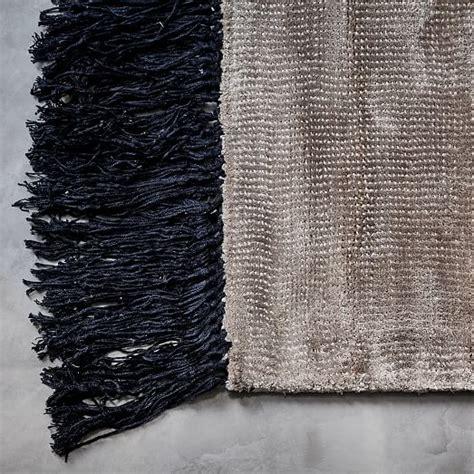 fringe rug contrast fringe rug taupe west elm