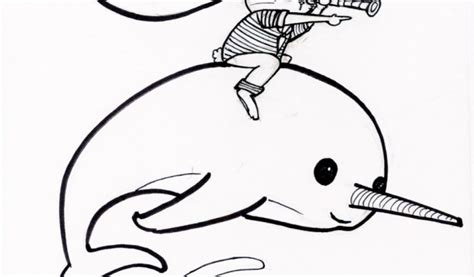 coloring page narwhal get this narwhal coloring pages printable trk35