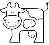 vaca para dibujar 1000 images about vacas imprimir colorear pintar