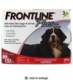 frontline plus for dogs 89 132 lbs frontline plus for dogs flea tick 89 132 lbs 3pk