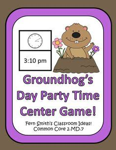 groundhog day time clip of clocks time homeschooling math