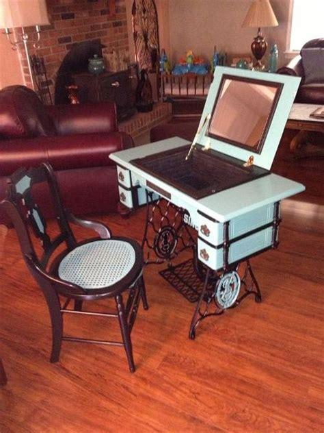 Hometalk repurposed antique sewing machine