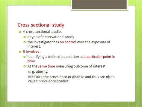 how to do a cross sectional study sectional study