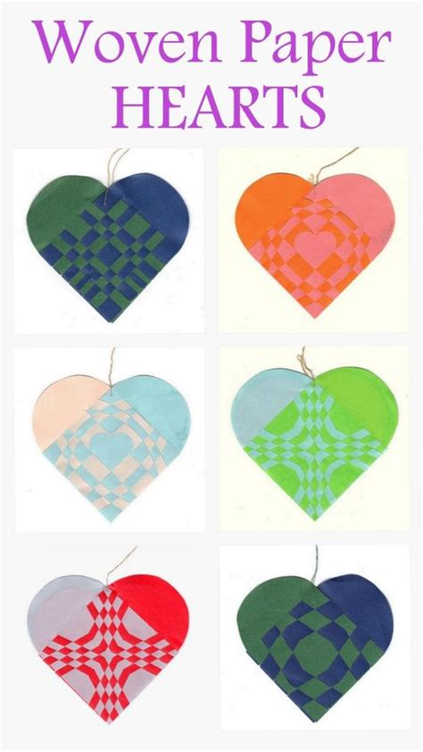 How To Make Woven Paper Hearts - woven paper hearts valentines paper