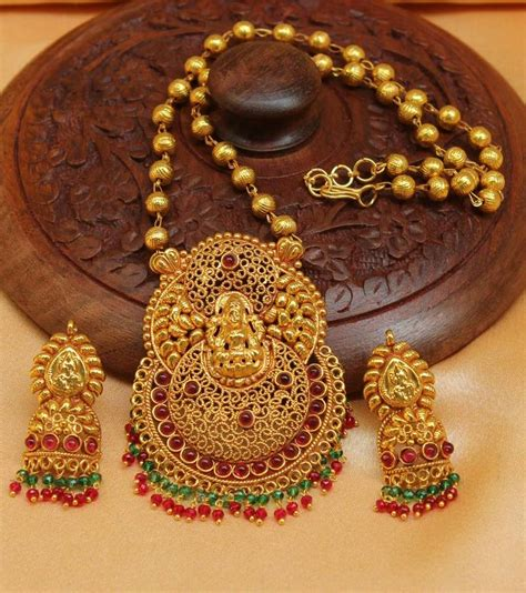 1 gram indian gold jewellery buy gorgeous geru polish one gram gold plated temple