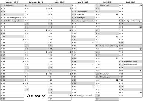 Kalender 2015 Utskrift Kalender F 246 R 2015 Med Helgdagar Och Veckonummer