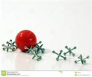 Ball and jacks royalty free stock images image 133259