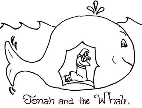 coloring pages jonah and the big fish story of jonah and the whale coloring page يونس عليه