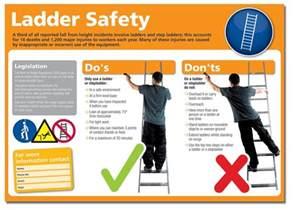 ladder safety poster seton uk
