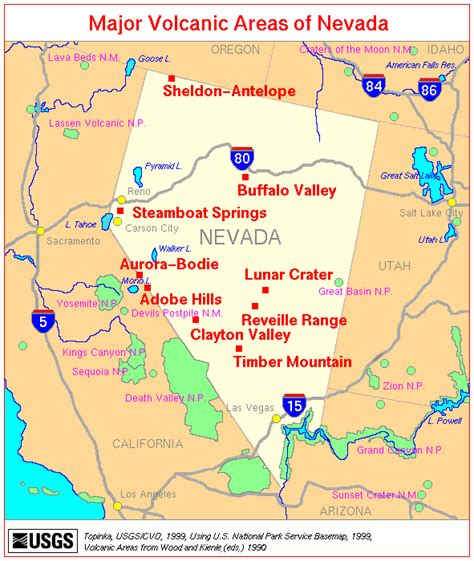 detailed map of nevada usa nevada map