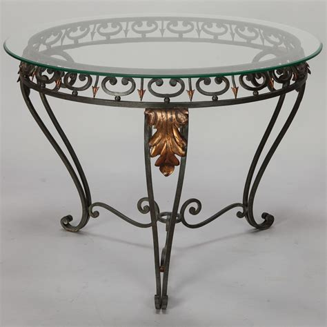 metal frame for table top glass top table with green iron frame and gilt