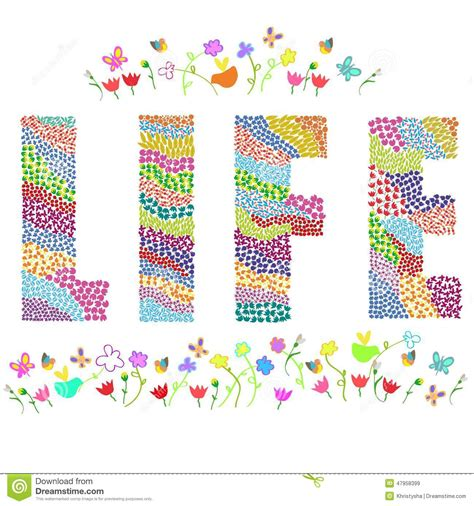 design art lifestyle life word stock vector image 47958399