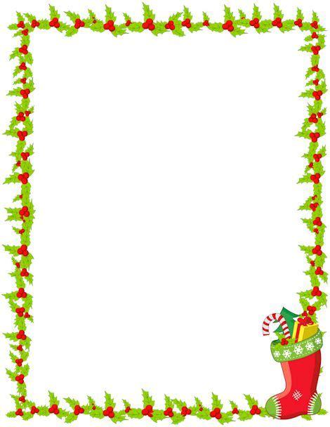 printable christmas borders printable christmas stocking border free gif jpg pdf