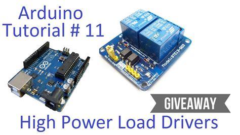 tutorial arduino relay arduino 11 high current voltage loads tutorial t