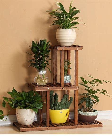 indoor plant shelves 3 tier versatile indoor plant shelf decorative wood plant